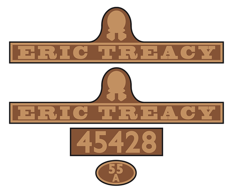 "45428 ""Eric Treacy"" loco set plates"