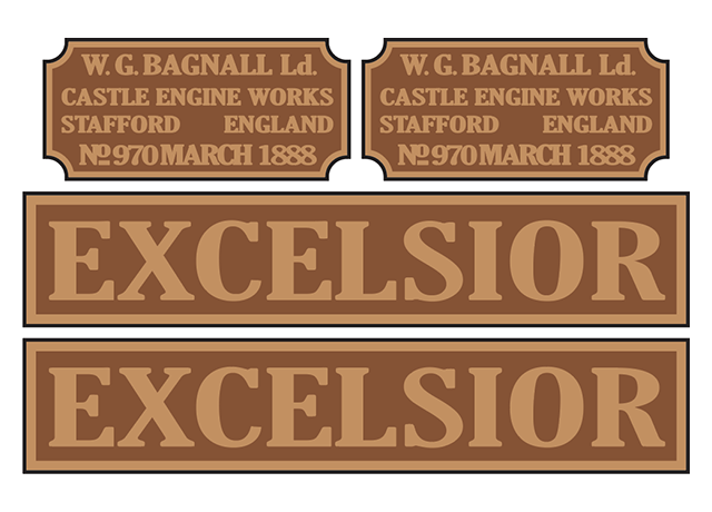 Bagnall 'Excelsior' loco set plates