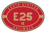 South African Railways number plates