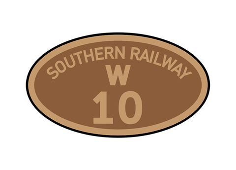 Southern Railway (shed prefix) number plates