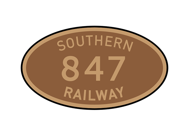 Southern Railway number plates