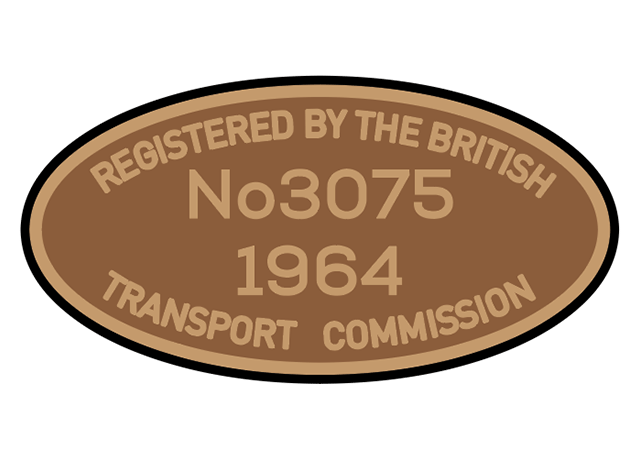 British Transport Commission number plates