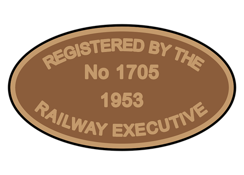 Railway Executive number plates