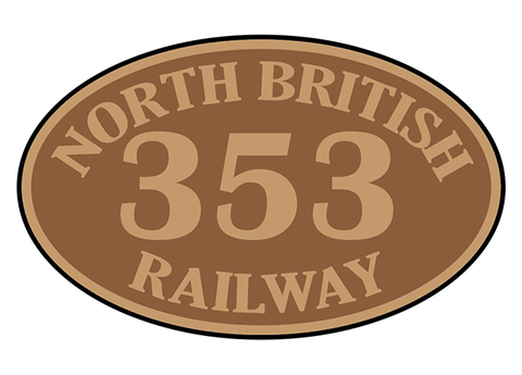 North British Railway number plates
