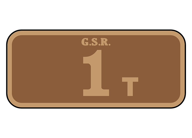 Great Southern Railway (Ireland) suffix number plates