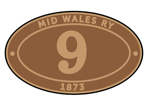 Mid Wales Railway number plates