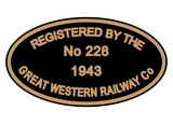 GWR Private Owner registration plates