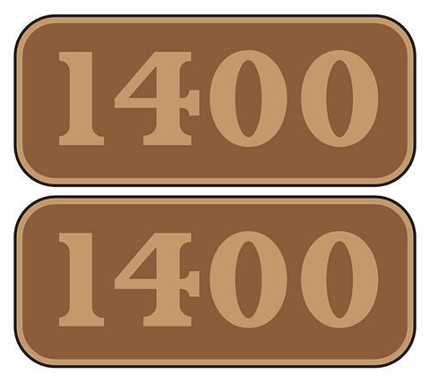 Great Western Railway number plates (Dapol)