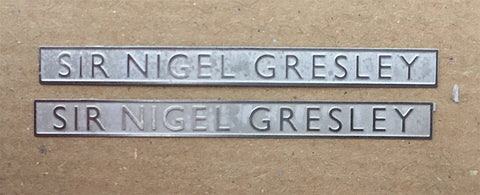 LNER stainless steel A4 nameplates