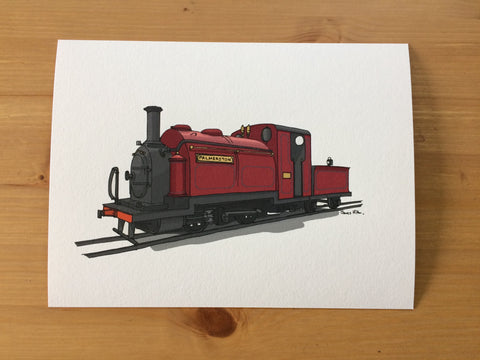 Ffestiniog Railway 'Palmerston' Illustrated Art Print