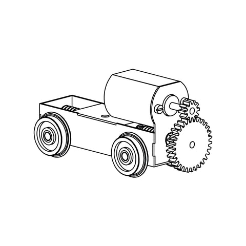 Chassis Kit, 25mm wheelbase
