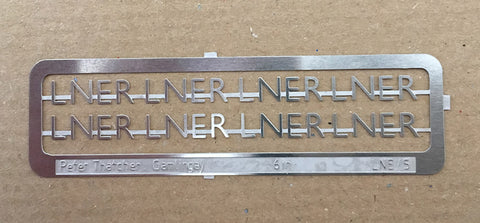 "LNER 6"" stainless steel characters"