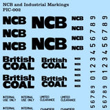 Industrial Transfers - Black NCB