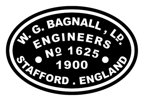 Bagnall works plates (early style)
