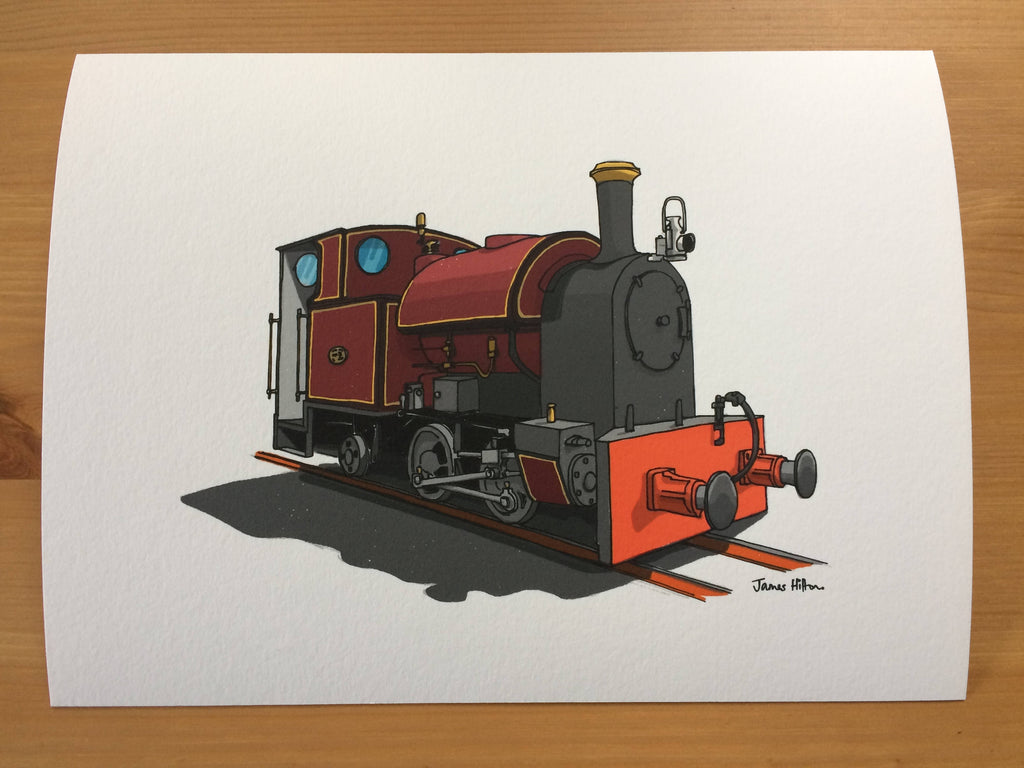 Kerr Stuart Corris No.7 Illustrated Art Print