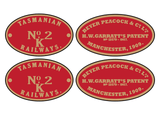 Welsh Highland Railway Garratt 'K1' loco set plates