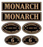 W&L 'Monarch' loco set plates