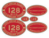 NGG16 Beyer-Peacock loco set plates