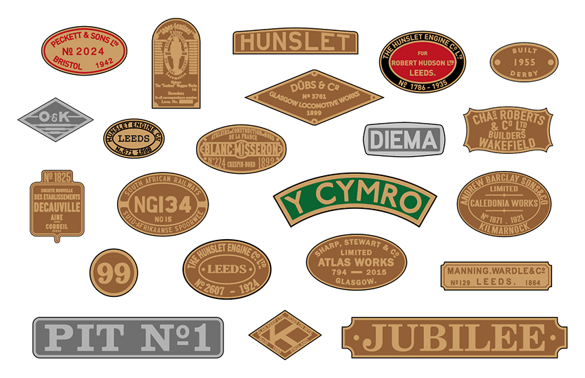 Spare nameplates - large scale