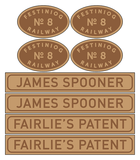 Ffestiniog Railway 'James Spooner' loco set plates