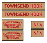 Fletcher Jennings 'Townsend Hook' loco set plates