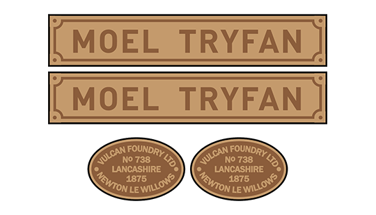Vulcan single Fairlie (NWNGR) loco set plates