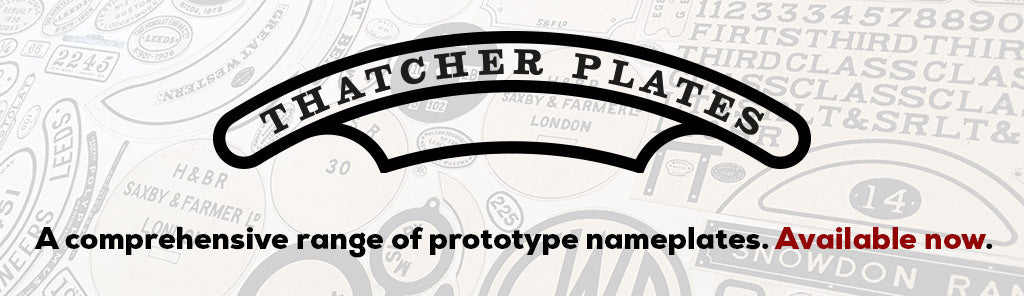 Thatcher Plates - A comprehensive range of prototype nameplates. Available now.