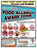 Food Allergy Aware Zone Allergen Poster