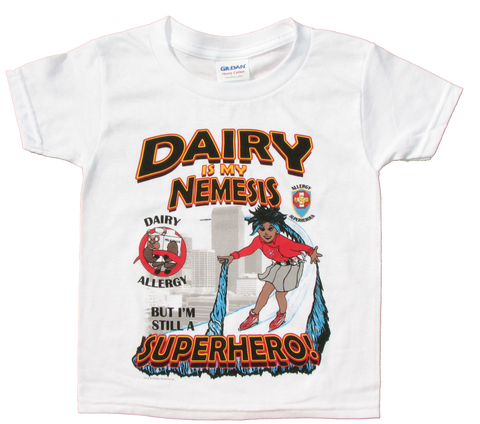 Dairy Allergy T-Shirt Superhero Arctic Storm