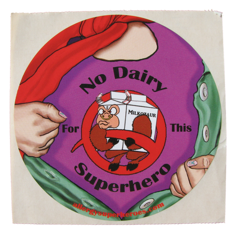 Dairy Allergy Superhero Girl Sticker