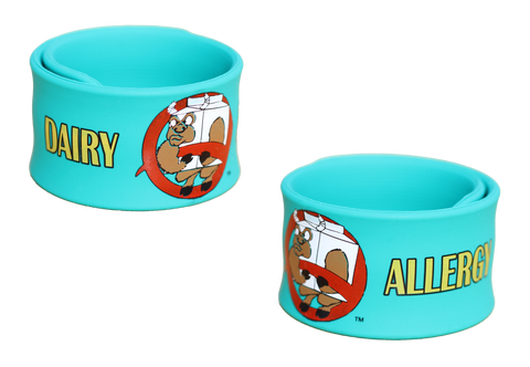 Milkotaur Dairy Allergy slap bracelet by food Allergy Superheroes.