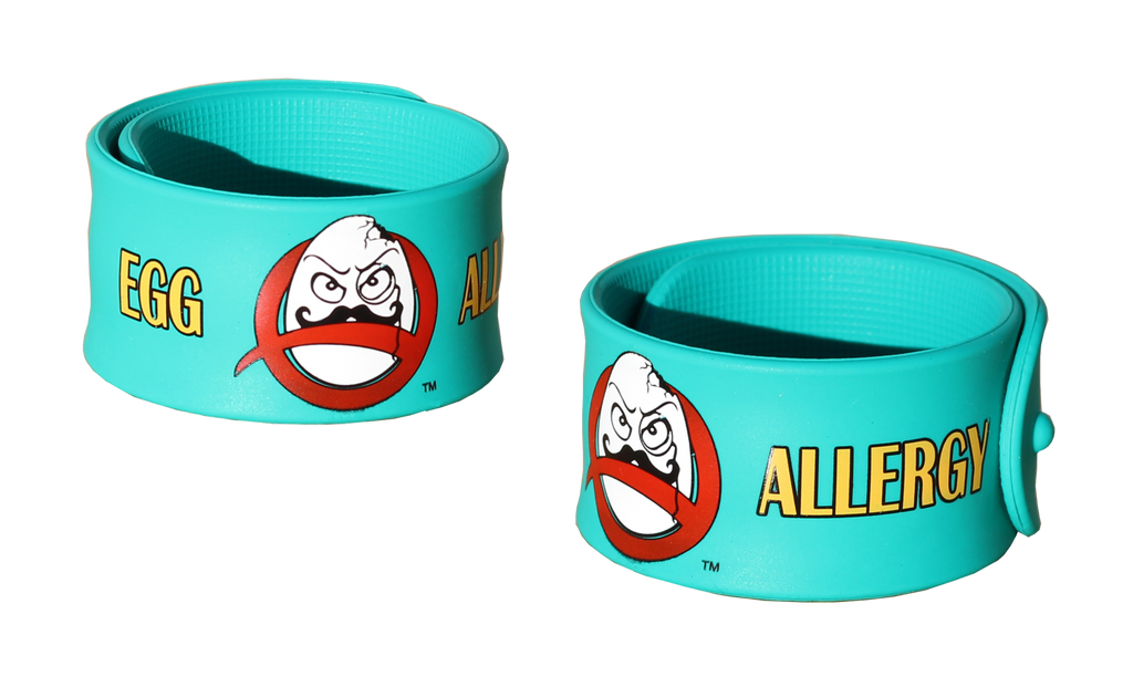 Egg Allergy Superhero Slap Bracelet