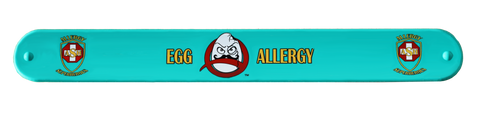 Professor Eggstein Egg Allergy slap bracelet by food Allergy Superheroes.