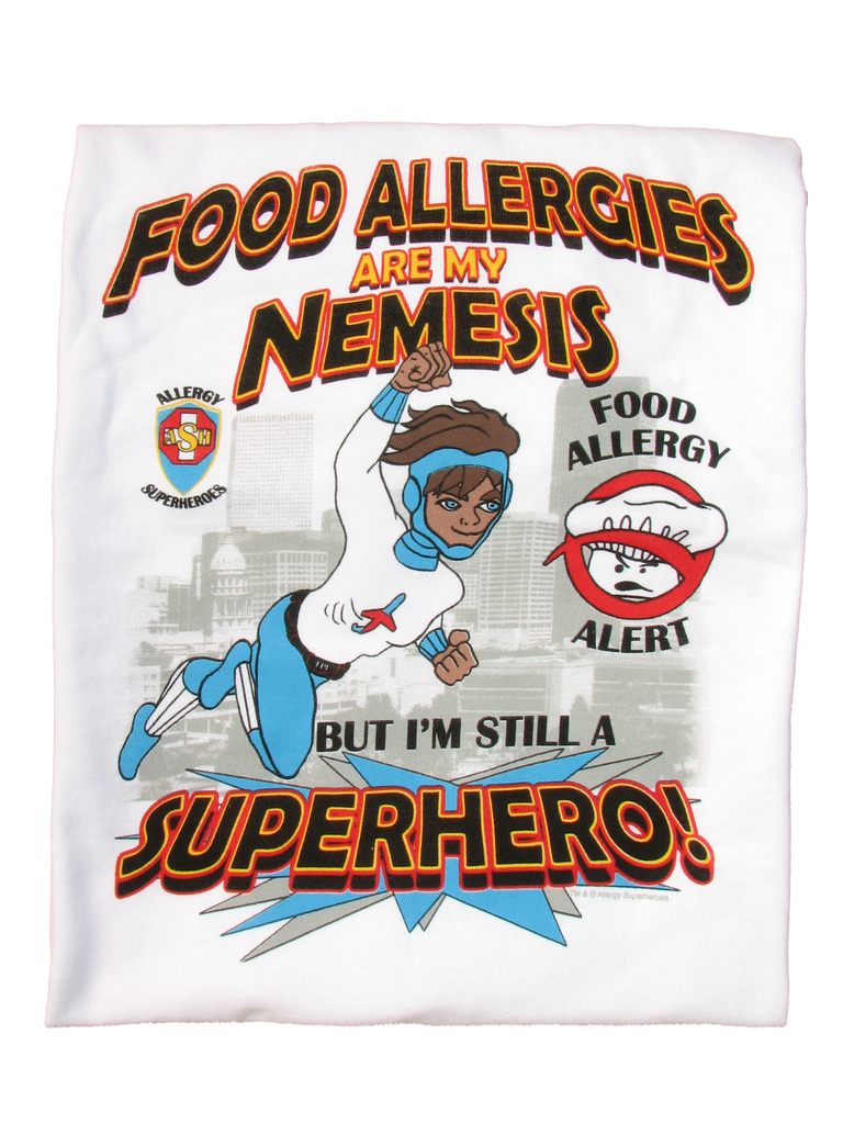 Chef Cross Food Allergy T-Shirt featuring Jet Trail by food Allergy Superheroes.