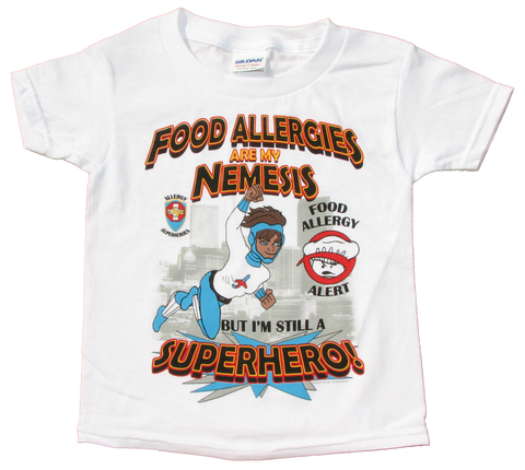 Multiple or Other Allergy T-Shirt Superhero Jet Trail