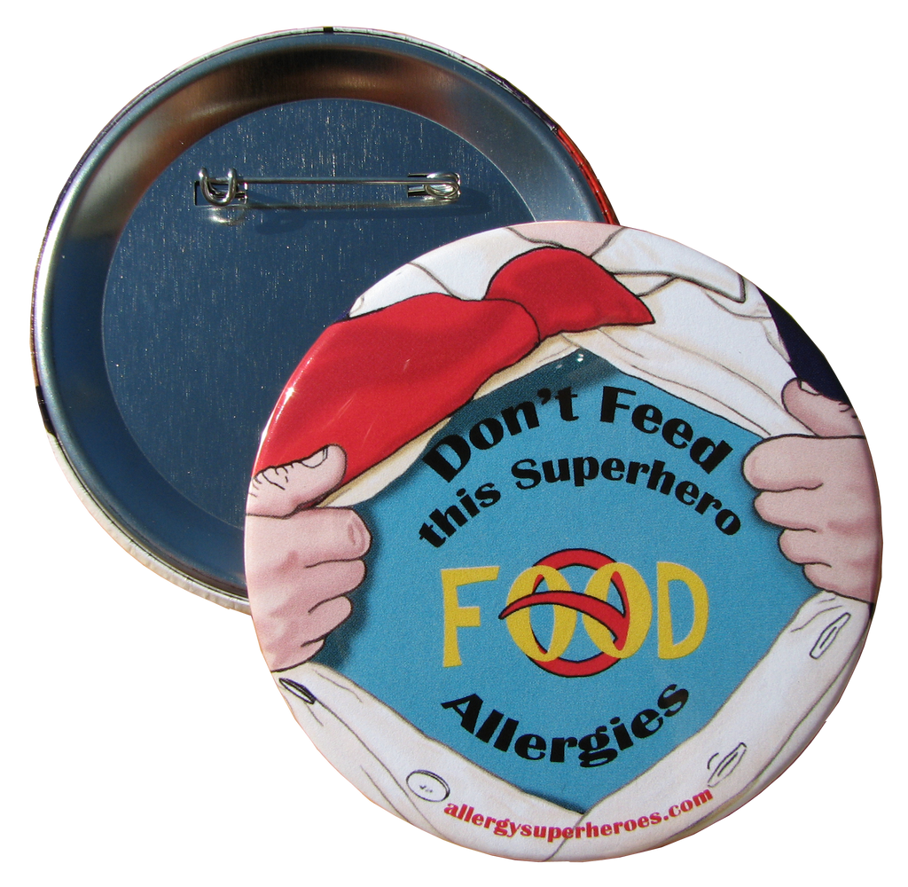 Food Allergy Superhero Boy Button by Allergy Superheroes
