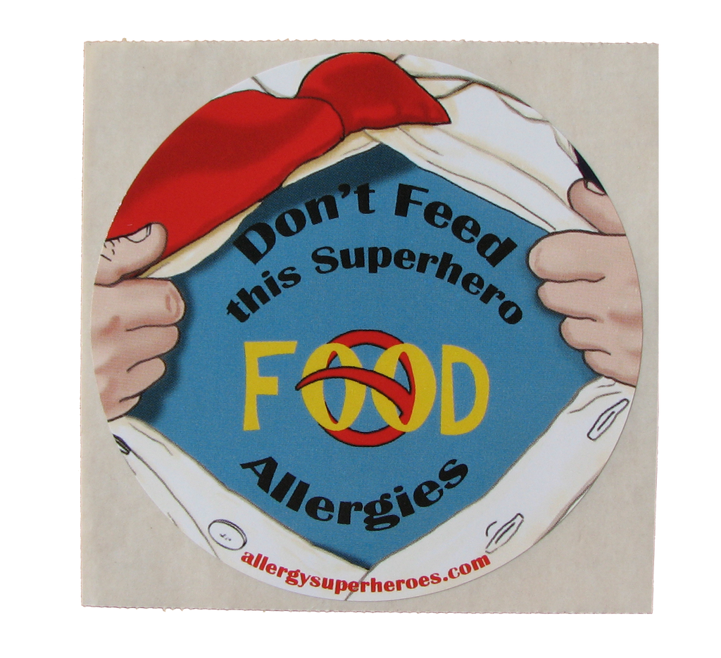 Food Allergy Superhero Boy Sticker by Allergy Superheroes