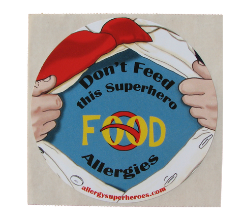Food Allergy Superhero Boy Sticker