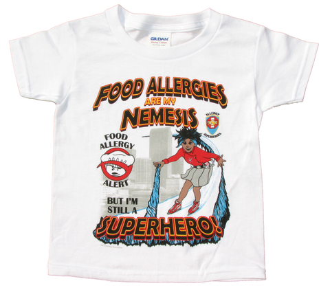 Multiple or Other Allergy T-Shirt Superhero Arctic Storm