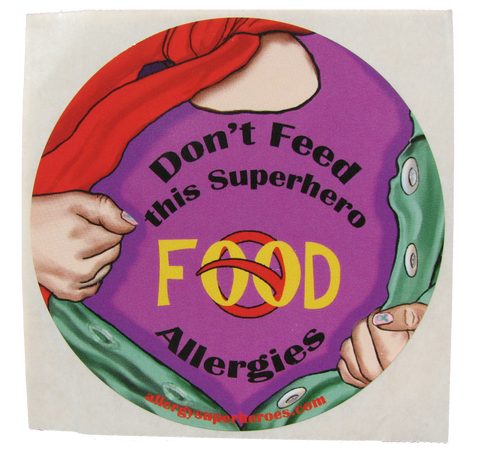Food Allergy Superhero Girl Sticker by Allergy Superheroes