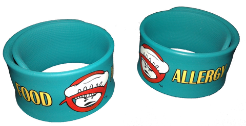 Food Allergy Superhero Slap Bracelet
