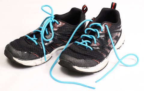 Food Allergy Awareness Shoelaces - Solid Teal by Allergy Superheroes