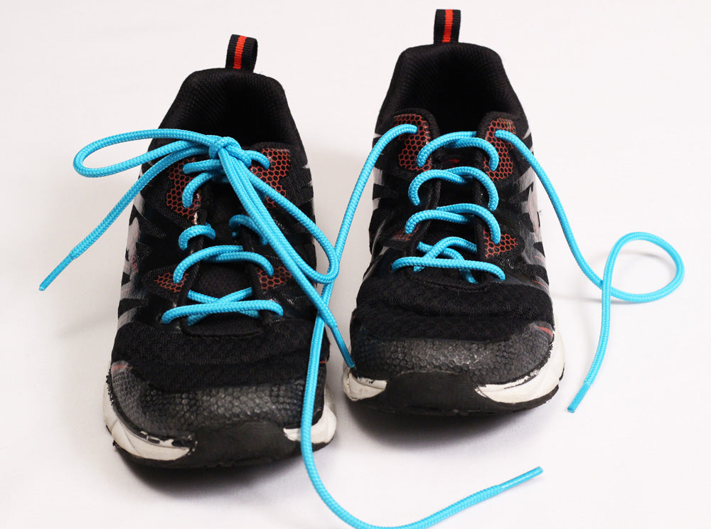 Food Allergy Awareness Shoelaces - Solid Teal