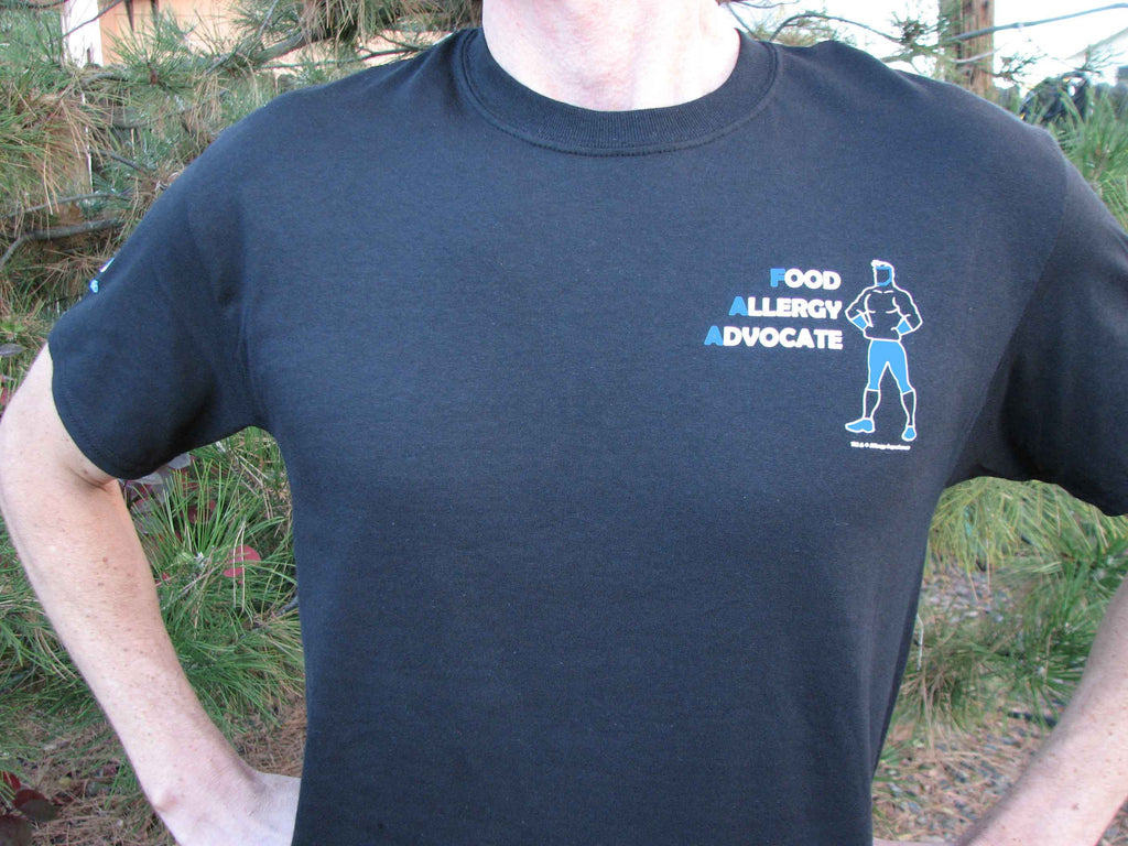 Food Allergy Advocate Men's Tee  by Allergy Superheroes