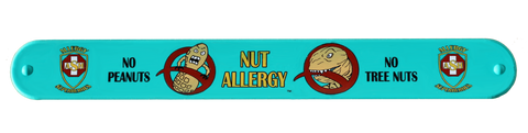 Lex Legume and Nutzilla Nut Allergy slap bracelet by food Allergy Superheroes.