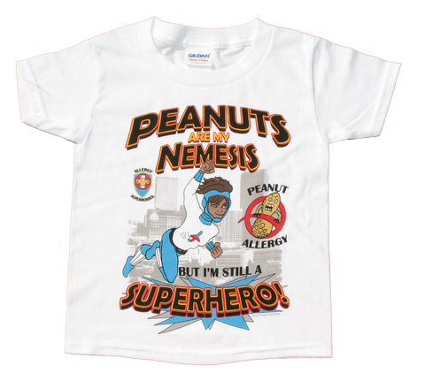 Peanut Allergy T-Shirt Superhero Jet Trail