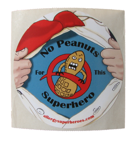 Lex Legume Peanut Allergy boy sticker by food Allergy Superheroes.
