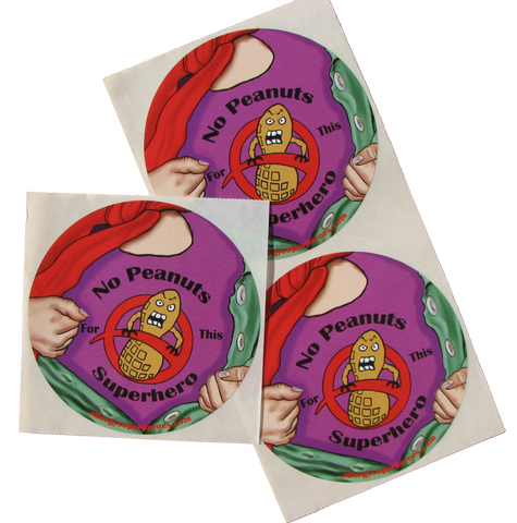 Lex Legume Peanut Allergy girl sticker by food Allergy Superheroes.