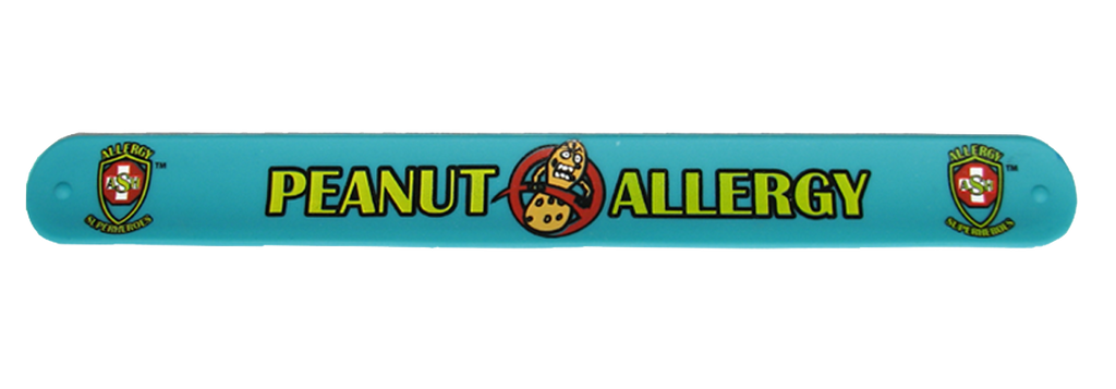Peanut Allergy Superhero Slap Bracelet