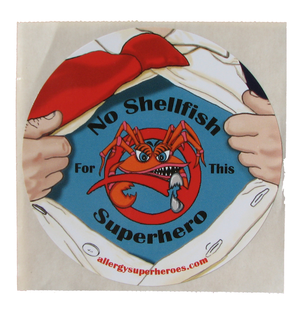 CLAWS Shellfish Allergy boy sticker by food Allergy Superheroes.